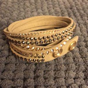 793ee4462 Women Swarovski Crystal Leather Wrap Bracelet on Poshmark
